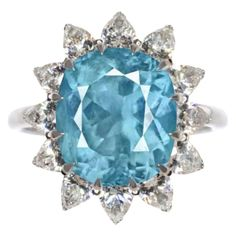 Exceptional GIA Certified 8.25 Carat Paraiba Tourmaline Pear Cut Diamond Ring For Sale at 1stDibs Pool Colors, Diamond Rings For Sale, Blue Pool, Natural Earth, Aqua Color, Gem S, Craft Work, Pear, White Gold