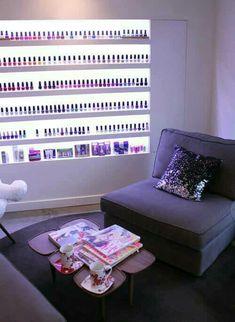 Nail Salon Design, Home Nail Salon, Nail Salon Decor, Beauty Salon Decor, Salon Interior Design, Pedicure Salon Ideas, Nail Ideas, Pedicure Manicure, Pedicure Designs
