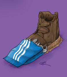 """Sneaker Art - Adidas - Yeezy 750 Boost """" Chocolate """" - Kanye West"""