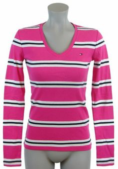 Tommy Hilfiger Womens V-Neck Striped Long Sleeve « ShirtAdd.com – Perfect Fit Shirts
