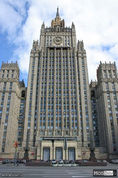 Ministry of Foreign Affaird - MID. Photo by Aleksey Slizkov, mosday.ru #friendlylocalguides #stalinskyscraper #moscowsoviettour