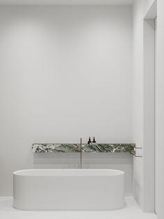 Apartment/Moscow - Dezign Ark (Beta) Apartment Projects, Toilet Design, London House, Bathroom Spa, Vanity Sink, Minimalist Interior, Bathroom Interior Design, House Design, Toilet Ideas