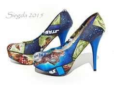 Not so long ago, in a workshop in Ohio....STAR WARS: Heros of the Republic Shoes  The Galaxy was in turmoil, but no one cared because they were wearing