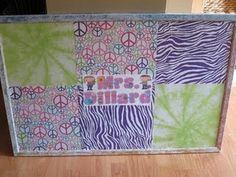 Classroom bulletin board using scrapbook paper & modge podge