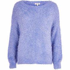 Light blue eyelash knit jumper �25.00