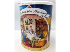 Frolíkova káva Prezident je směsí arabiky z Afriky Beverages, Drinks, Root Beer, Canning, Mugs, Africa, Drinking, Tumblers, Drink
