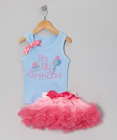 Take A Look At This Blue Its My Birthday Rhinestone Tank Pink Pettiskirt
