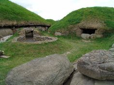 Megalithic chambers at Knowth, Ireland.