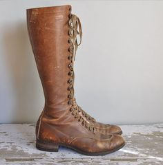 1920s leather boots