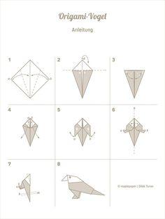 DIY Anleitung: Origami-Wellensittich falten // diy tutorial: paper bird (origami technique) via DaWanda.com