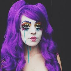 Pin for Later: 77 Drop-Dead-Gorgeous Halloween Costumes For Rainbow Hair Colors Purple Hair Anime character