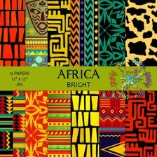 Digital Scrapbook Paper, Digital Papers, Clipart Photo, African Colors, African Patterns, African Princess, African Textiles, African Fabric, African Quilts