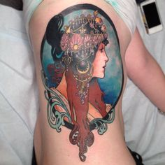 beautiful Mucha tattoo. #alphonse #mucha #tattoo