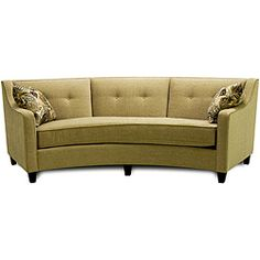 @Overstock - The sofa features and arced design in a lovely mushroom color. This furniture piece features seat cushion attachment and a tailored back.http://www.overstock.com/Home-Garden/Taylor-Beige-Curved-Sofa/5149522/product.html?CID=214117 $1,249.99