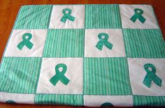 Pictures of Awareness and Comfort Quilts: Ovarian Cancer Quilt