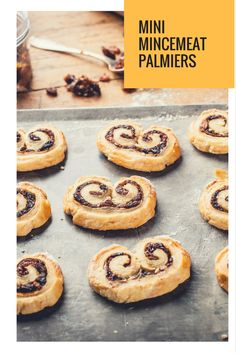 Adam Byatt's mincemeat palmier recipe is a great alternative to traditional mince pies at Christmas, and would be perfect for some festive family baking, too. Christmas Nibbles, Christmas Canapes, Christmas Cooking, Mincemeat, Great British Chefs, Mince Pies, Appetisers, Tray Bakes, New Recipes