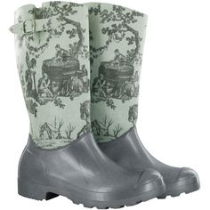 Toile de Jouy Rainboots...oh I love these!