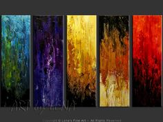 """Quintessence"" - Original Abstract Art by Lena Karpinsky, http://www.artbylena.com/original-painting/20533/quintessence.html"
