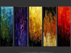 """""""Quintessence"""" - Original Abstract Art by Lena Karpinsky, http://www.artbylena.com/original-painting/20533/quintessence.html"""