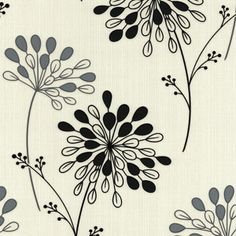 black and white floral wallpaper photos