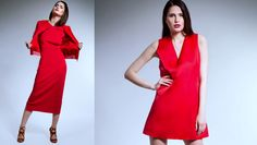 Have Fun#Be Different &Keep on Wearing RED# One Shoulder, Shoulder Dress, Spring Summer 2015, Red, How To Wear, Dresses, Fashion, Vestidos, Moda