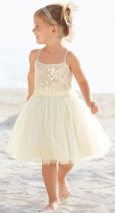 New Flower Girl Princess Dress Kid Party Pageant Wedding Bridesmaid Tutu Dresses Beach Flower Girls, Tulle Flower Girl, Ivory Flower Girl Dresses, Girls Tutu Dresses, Tulle Flowers, Tutus For Girls, Flower Girl Beach Wedding, Princess Dresses, Pageant Dresses