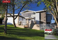 Indooroopilly Post War Renovation   Entry/Streetscape   Before And After   dion seminara architecture