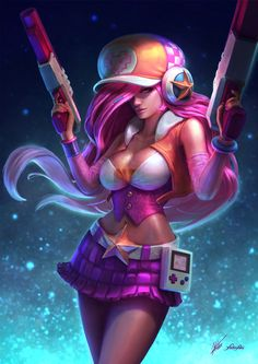 Arcade Miss Fortune Fanart from League of Legends. , Cassio Yoshiyaki on ArtStation at http://www.artstation.com/artwork/arcade-miss-fortune-fanart-from-league-of-legends