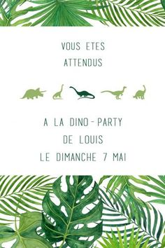 Dino party | Odrai et Louis 3rd Birthday, Birthday Parties, Party Organization, Dinosaur Party, Rsvp, Party Favors, Birthdays, Invitations, Kids