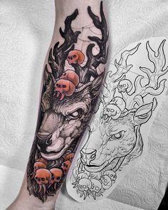 The Webby Award-winning arts magazine. Covering fine art, tattoo, graffiti, design, and cinema. Ram Tattoo, Norse Tattoo, Demon Tattoo, Black Ink Tattoos, All Tattoos, Sleeve Tattoos, Puzzle Tattoos, Blackwork, Widder Tattoos