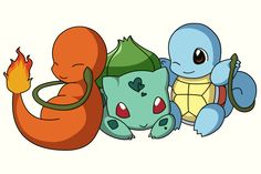 PKMN: Pokemon Starters by Xeohelios on DeviantArt Fire Pokemon, Weird Drawings, Pokemon Starters, Pokemon Tattoo, Bulbasaur, Pokemon Pictures, Digimon, Cute Baby Animals, Anime Characters