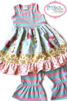 Texas Tea Tank dress girl toddler MOMI boutique