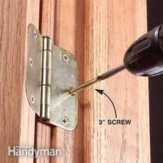 DIY: How To Fix a Door that Sags or Sticks - great post that clearly explains why doors stick or sag in certain spots and then shows how to fix the issues - via Family Handyman Handyman Projects, Make A Door, Home Fix, Diy Home Repair, Home Repairs, Do It Yourself Home, Diy Home Improvement, Home Projects, Garden Projects