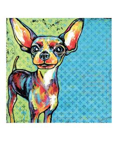 Another great find on #zulily! Pop Art Chihuahua Gallery-Wrapped Canvas…