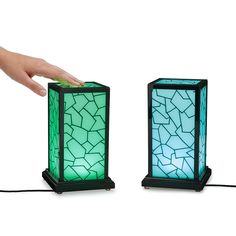Light up loved ones' lives—across town or the whole country—with 2 or more of these in-sync lamps.