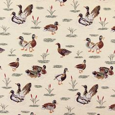 Gobelin Ducks - Polyester - Cotton - Polyacrylic - beige
