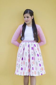 Pleated skirt and popsicles