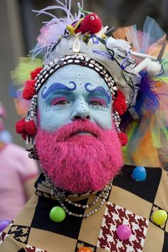 Facial hair might be dyed. | The 31 Most Fabulous Gay Pride Parade Looks