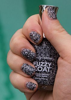 Fuzzy Coat by Sally Hansen; DIY Tweed Nails by April Golightly