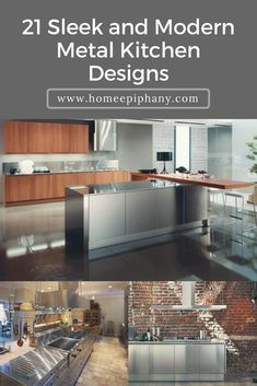 Luxury Kitchens Check out 21 modern metal kitchen designs and ideas Luxury Kitchen Design, Best Kitchen Designs, Luxury Kitchens, Cool Kitchens, Kitchen Dinning, Living Room Kitchen, Diy Kitchen, Kitchen Ideas, Home Decor Inspiration