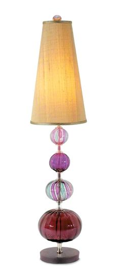 Purple Art Glass Table Lamp, sharing luxury designer home decor inspirations and ideas for beautiful living rooms, dinning rooms,     bedrooms & bathrooms inc furniture, chandeliers, table lamps, mirrors, art, vases, trays, pillows &     accessories courtesy of InStyle Decor Beverly Hills enjoy & happy pinning