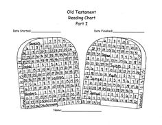 Old Testament Reading Chart Part I-includes Pearl of Great Price