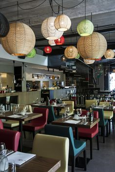 CRUDO at Versuz concept restaurant #Italian #interiordesign SANGHA('s) colours #DARK