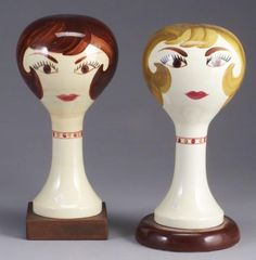 Pottery Wig Stand 87