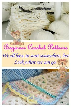 Easy Beginner Crochet Patterns make learning crochet all the more simple and doable. Learn to love yarn crafts by simple crochet patterns.