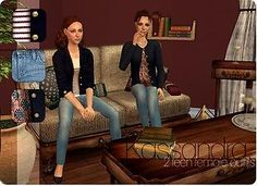 Mod The Sims - Kassandra - Fall outfits for your teen ladies.