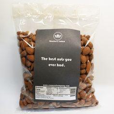1 LB Roasted & Salted Almonds- $12.50  #almond, #bake, #snack, #lunch, #californiaalmonds  roasted-salted-almonds-crown-nut-company