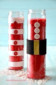Come realizzate candele natalizie fai da te foto immagini idee candele decorate per tavola di Natale video tutorial guida 80 idee lavoretti bambini