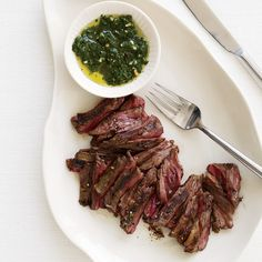 Marc Bittman's Grilled Skirt Steak with Chimichurri Sauce // More Amazing Steak Recipes: http://www.foodandwine.com/slideshows/steak #foodandwine