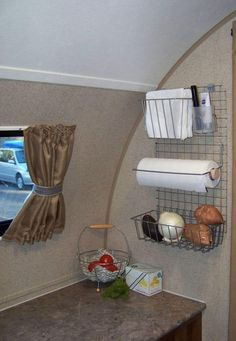 13 camping storage ideas that will make you a happy camper These 13 camping storage ideas are THE BEST! I'm so glad I found these AMAZING hacks for camping organizations h # Happy Campers, Rv Campers, Camper Trailers, Travel Trailers, Rv Travel, Scamp Trailer, Travel Trailer Living, Travel Trailer Camping, Horse Trailers